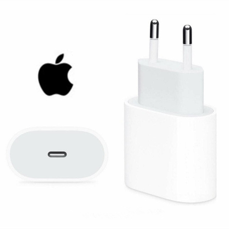 Original apple 20w USB-C adaptador de energia carregador eua ue plug adaptador carregador rápido para iphone 8 plus x xs 11 12 mini pro max
