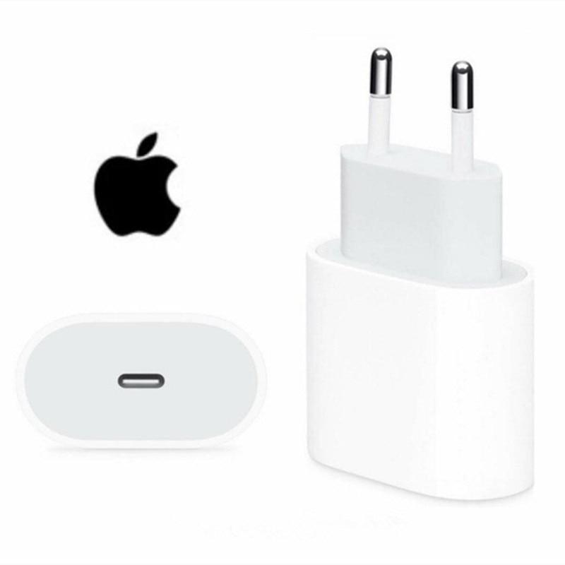 Оригинальный Apple iPhone X 20 Вт USB-C адаптер питания зарядное устройство US EU Plug быстрое зарядное устройство адаптер для iPhone 8 plus X XS 11 12 mini pro max
