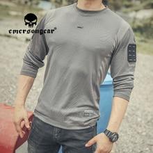 EMERSONGEAR Blue Label Tactical UMP Frogmen T-Shirt Men Fitness Sport Long Sleeve Shirt Running Shooting Sports Outdoor Airsoft
