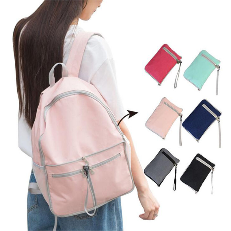 Outdoor Sports Women Men Small Foldable Backpack Waterproof Backpack Cover Multi-Functional Hiking Travel Bag Pack RH803