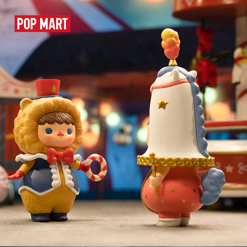 POPMART Pucky Circus ของเล่นรูปกล่องตาบอดวันเกิดของขวัญจัดส่งฟรี