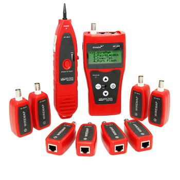 NOYAFA NF-388R LCD Cable Tester Lan Tester wiremap for network cables with 8 remotes Wire Check