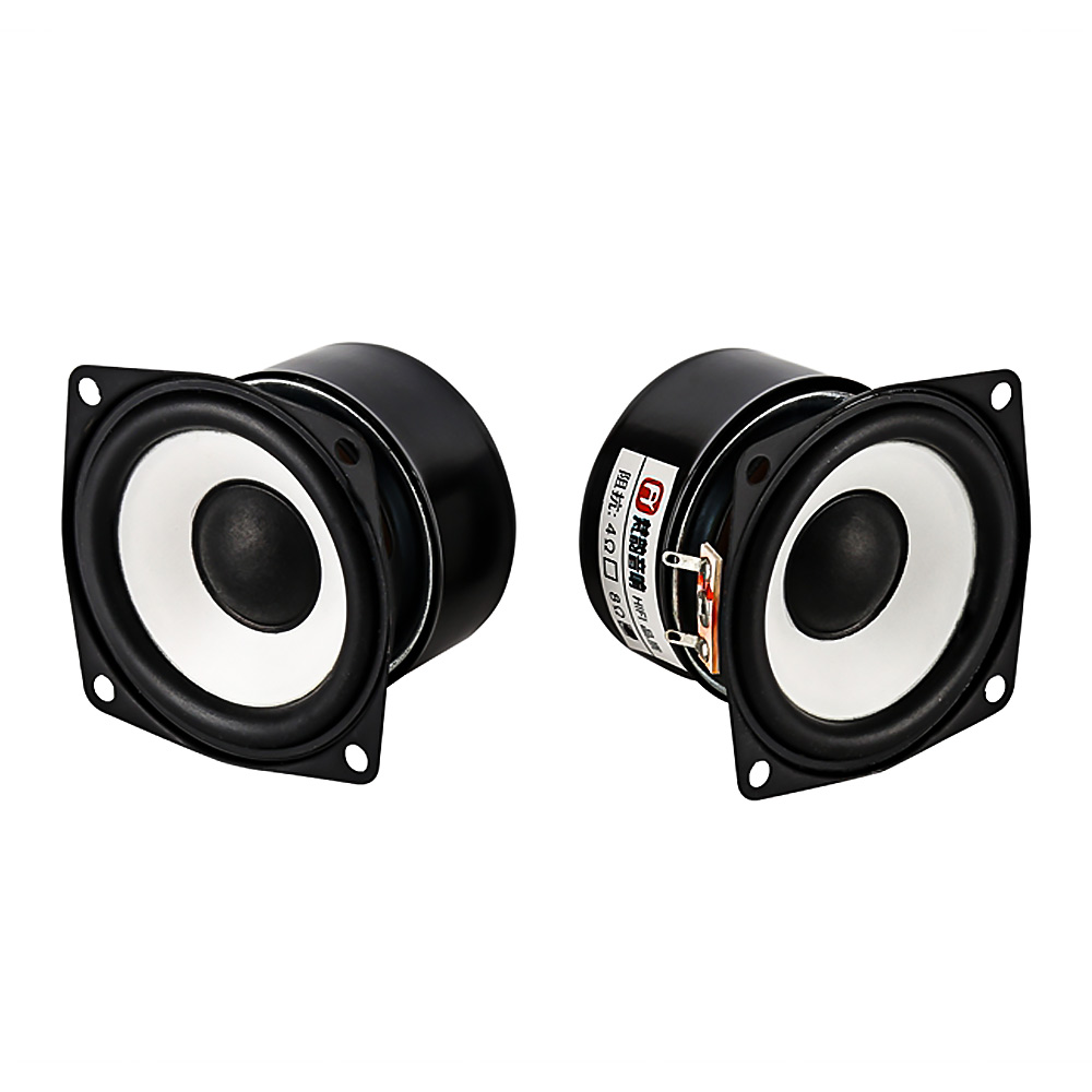 AIYIMA 2Pcs 2Inch Audio Portable Speakers Full Range Speaker 4Ohm 12W DIY Stereo HiFi Horn Loudspeaker Home Theater Accessories