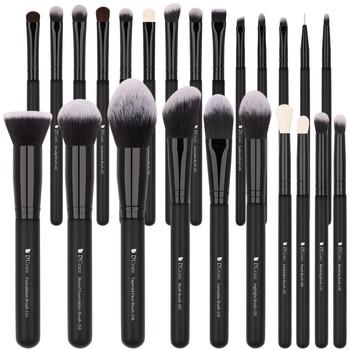 DUcare Black 24pcs Professional Makeup Brushes Set High Quality Make Up Brushes Professional Natural goat hair make up brushes 2