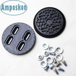 Juego de discos de encuadernación de Snowboard disco negro (PAR) piezas de repuesto de encuadernación placas de montaje Correa-en techine