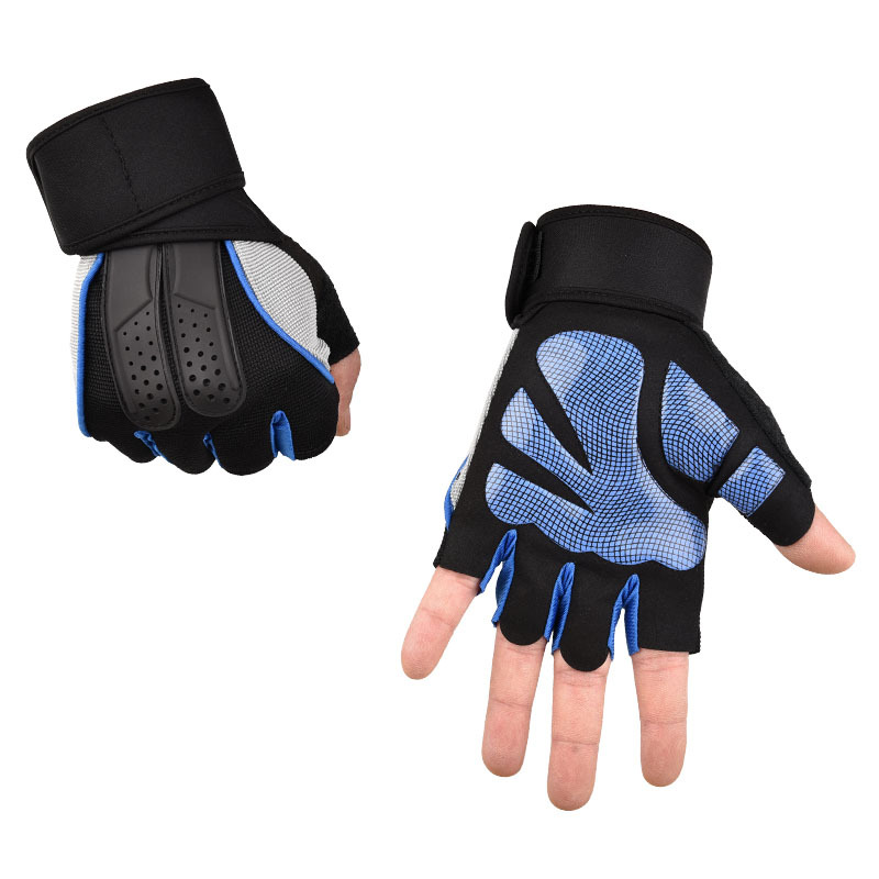 Fitness Gloves Men's Equipment Training Midi Sports Wear-Resistant Pull-up Horizontal Bar Non-Slip Dumbbell Yoga Foreign Trade M