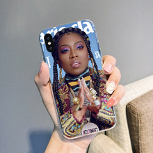 IMIDO singer Missy Elliott Soft phone case 7 8 X XR For iphone 11 pro xs max 6s 6 plus cover SE 5 10 5s TPU Funda shell Coque missy elliott wtf
