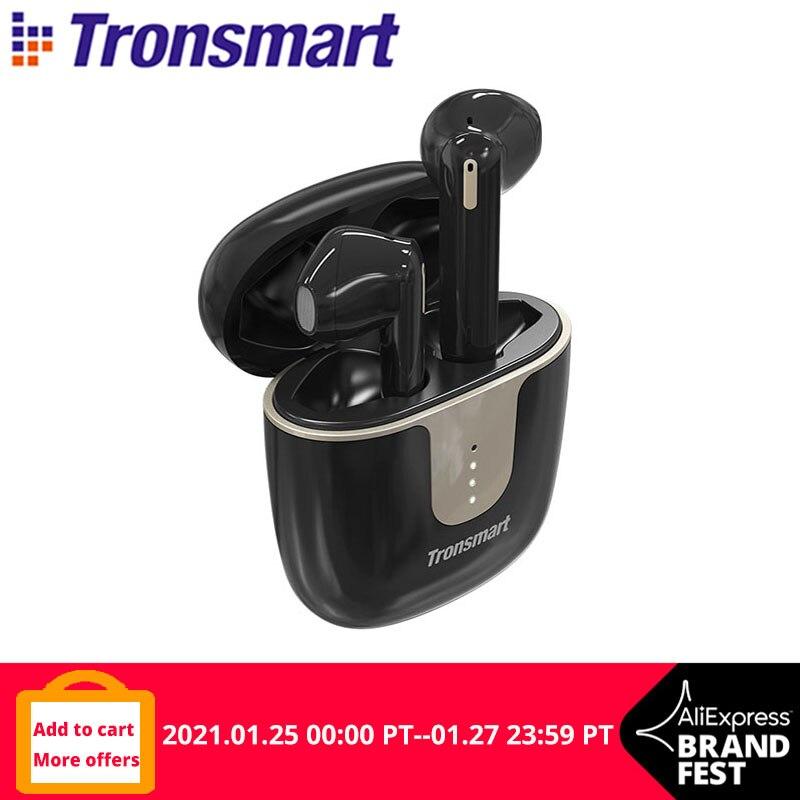 Tronsmart-auriculares inalámbricos Onyx Ace TWS con Bluetooth, dispositivo Qualcomm con 4 micrófonos, cancelación de ruido y duración de reproducción de 24 horas