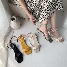 Women Vintage Boho Sandals Summer Leather Flat Sandals Women