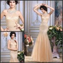 vestidos роскошное Кристальное официальное сексуальное Золотое вечернее платье с пайетками вечерние платья для матери невесты