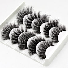 5Pairs 3D Faux Mink Hair False Eyelashes Natural/Thick Long Eye Lashes Wispy Makeup Beauty Extension Tools(China)
