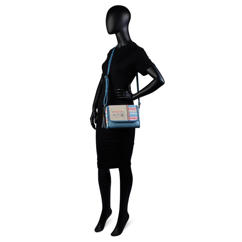 Bolso Bandolera De Mujer. Cierre Cremallera Y Solapa. Bolsillo Exterior Delante. Pequeño. Ideal Para D 6