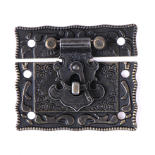 Lock-Box Suitcase Toggle-Latch Working Antique Home DIY Wood 51x43mm Buckles Bronze-Tone