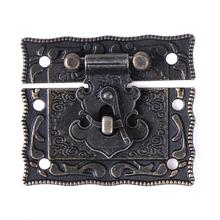 Antyczne blokada walizka zamknięcia dociągające klamry drewniane pudełko blokada odcień brązu domu DIY drewna pracy 51x43mm hurtownie tanie tanio ZLinKJ NONE CN (pochodzenie) A127 Zamek 51mm*43mm