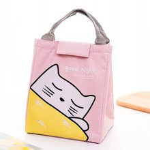 Thermal Bag Portable Lunch Box Bag  Neutral Student Kid Lunch Bag Cooler Handbag Food Picnic Lunch Pouch Storage Ice Bags 2 layers family cooler bags thermal iced drink lunch box picnic food storage shoulder handbag pouch accessories supplies product