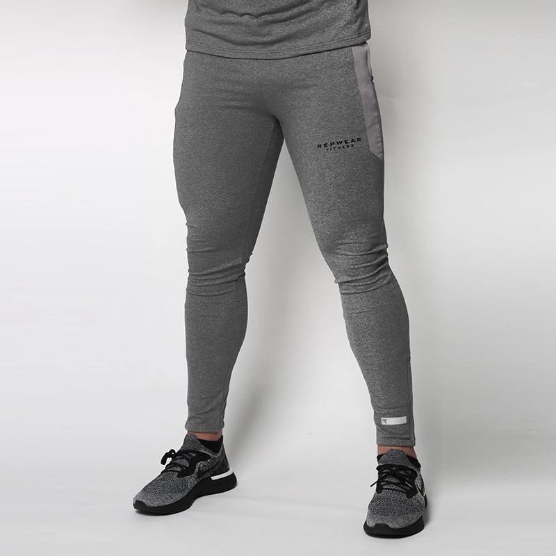Mens Fitness Workout Pants Skinny Sweatpants Trousers Jogger Pants New 2019 Men Gyms Pants Casual Elastic Cotton Pants