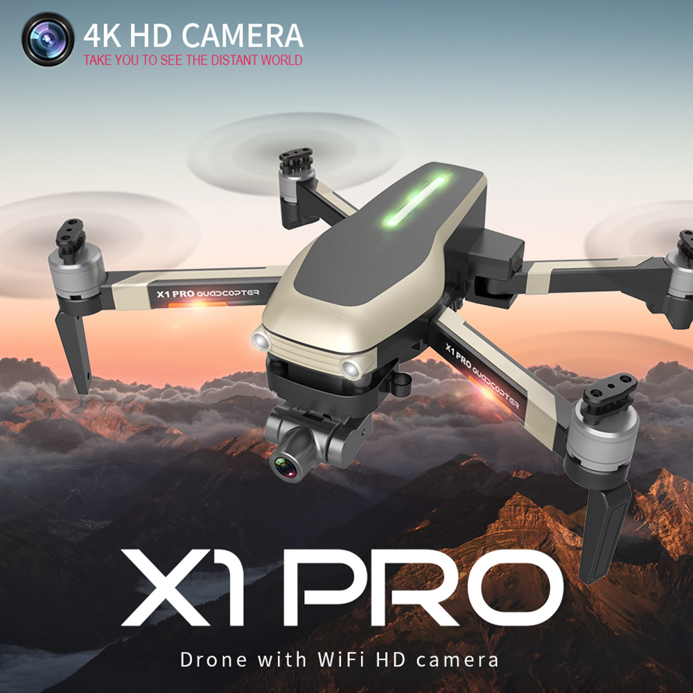 X1 PRO 4K 1080P Video Gimbal Full HD Camera RC Drone FPV GPS 5G WIFI Professional Quadcopter Follow Me 25 Minutes Flying Time