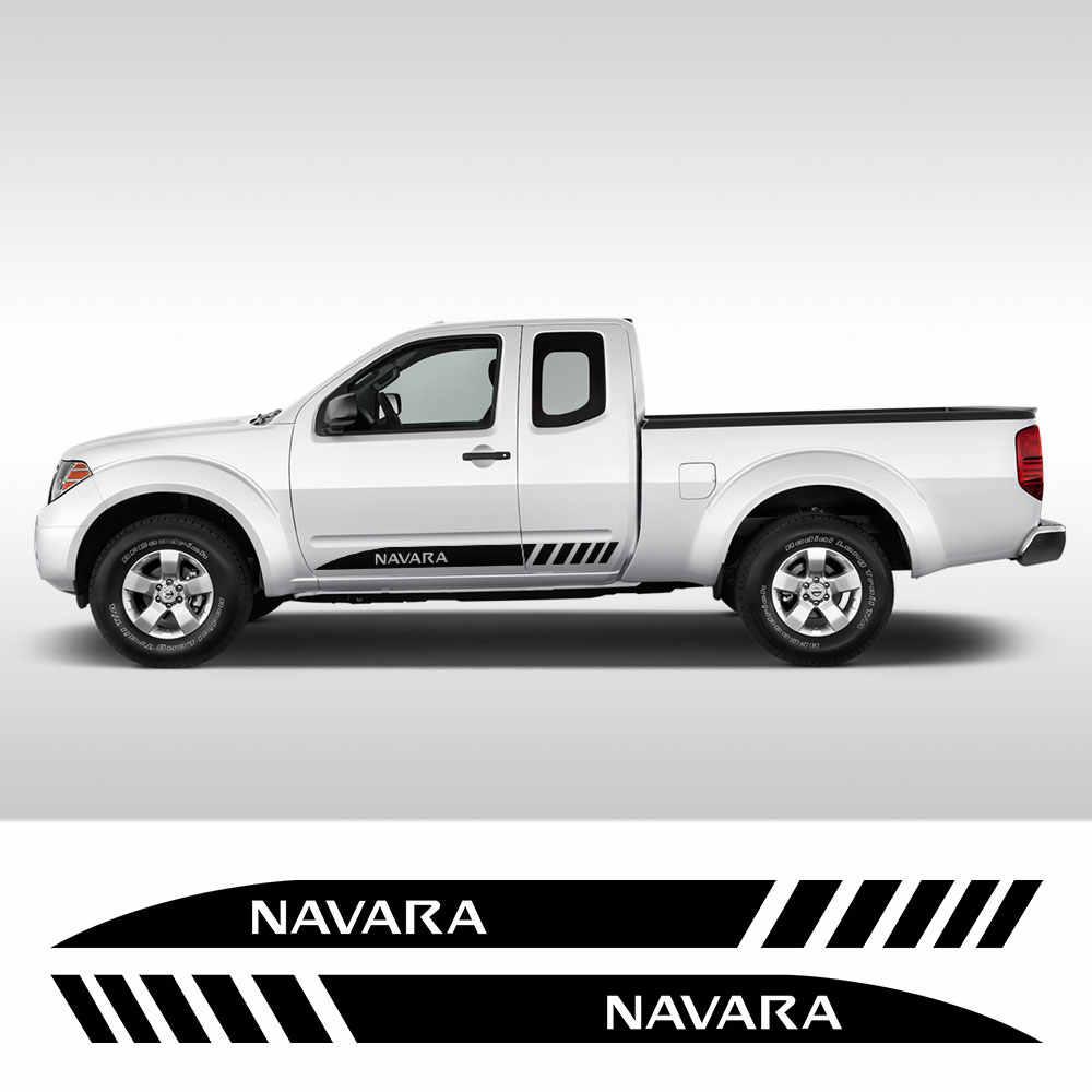 Qwldmj 2 uds Pegatinas de Rayas largas de Coche para Nissan NAVARA NP300 DIY Auto Puerta Lateral pel/ícula de Vinilo calcoman/ía Estilo Deportivo Accesorios de Ajuste de Coche