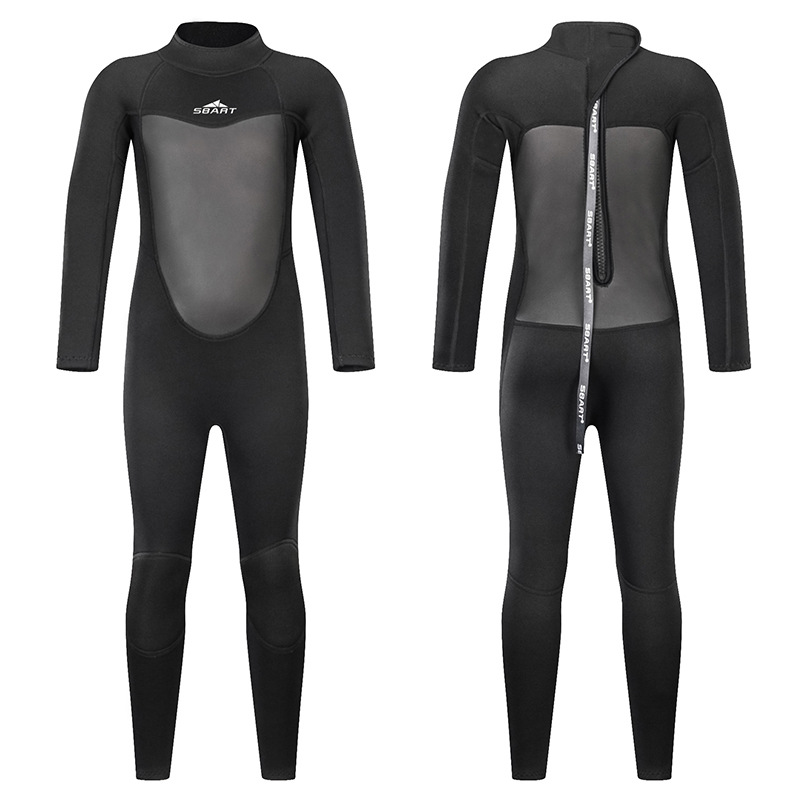 Sbart 2019 New Style 2MM Men And Women Children Sun-resistant Bathing Suit Long Sleeve Snorkeling One-piece Swimming Quick-Dry D