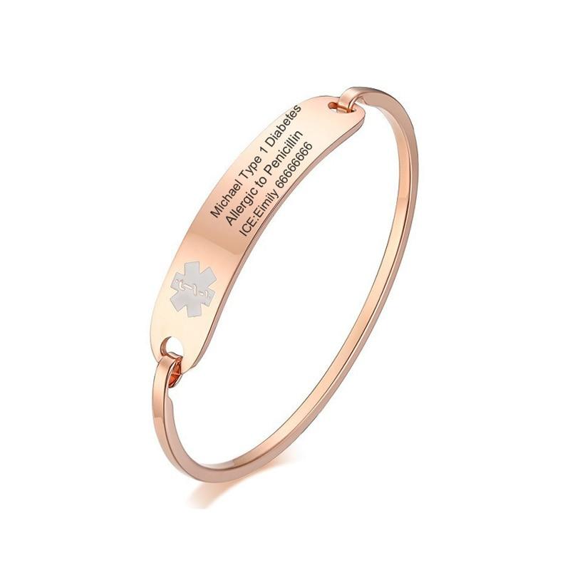 Бесплатная персонифицированная ледяная медицинская тревога аварийный напоминание браслет для женщин мужчин диабет эпилепсия