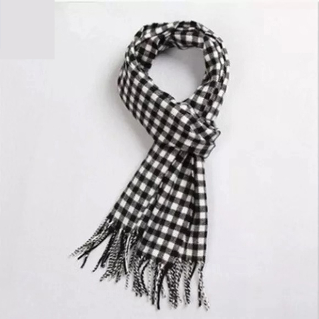 Details about  /Pure Wool Men/'s Scarf Winter Classic Cashmere Scarf Tide Wild Korean Boys Warm t