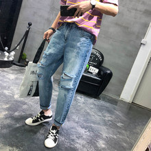 MIXCUBIC 2019 Autumn Korean style unique ripped hole jeans for men casual slim Beggar Scratched hole jeans men,size 28-34(China)