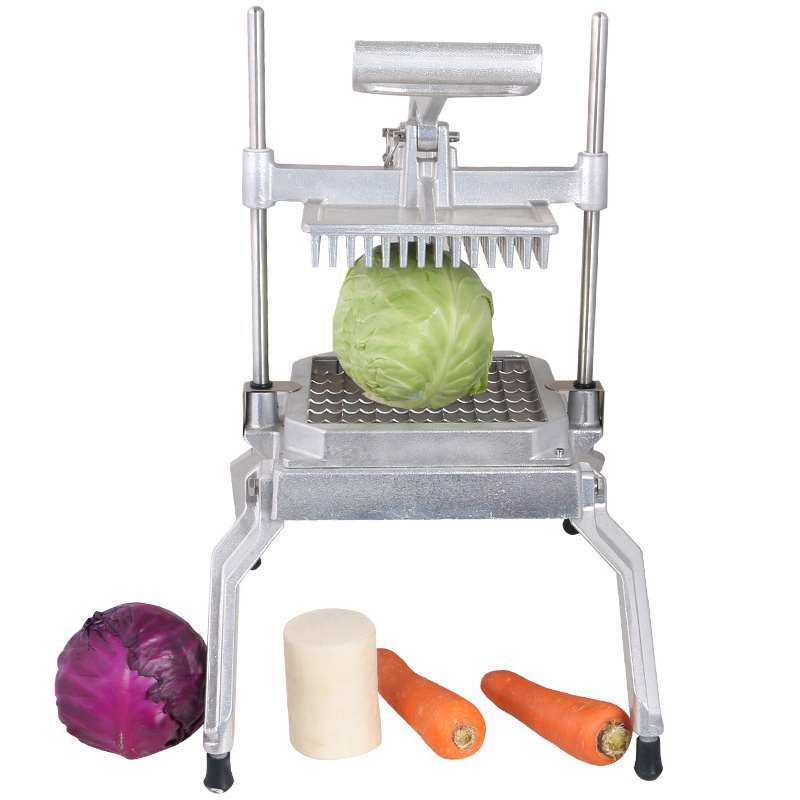 Multi-function Vegetable Fruit Cutter Manual Lettuce Cutting Dicing Machine Stainless Steel Dicer Food Commercial Processor