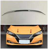 1pcs Accessories NEW! ABS Chrome 1pcs Front Grille Hood Engine Cover Trim For NISSAN LEAF 2018|abs chrome|hood trim|grill trim -
