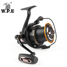W.P.E HKC Fishing Reel 6000 8000 Metal Spool Spinning Reel Max Drag 14.5KG 7+1 BBS 4.1:1Gear Ratio Carp Fishing Fishing Tackle