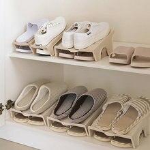 4 шт толстые двойные стеллажи для обуви стеллаж хранения удобный