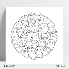 AZSG ghost Clear Stamps/Silicone Transparent Seals for DIY scrapbooking Card Making 13*13cm