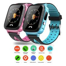 Y34 Daily Waterproof Anti Lost Child GPRS Tracker SOS Positioning Tracking Smart Phone Baby Safe Watch Christmas Gifts For Kids(China)