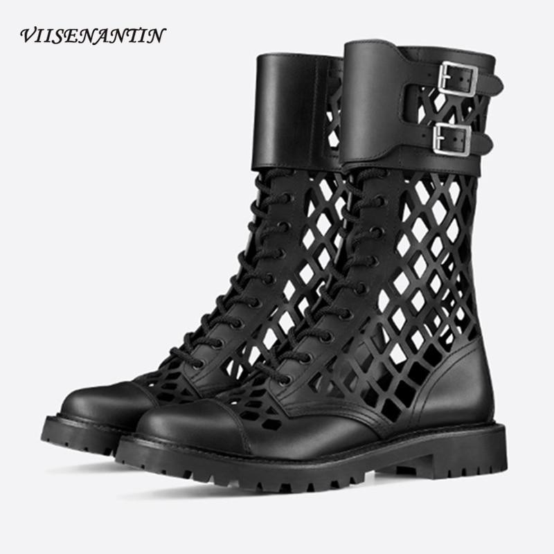 Ankle Boots Corss Strap Lace