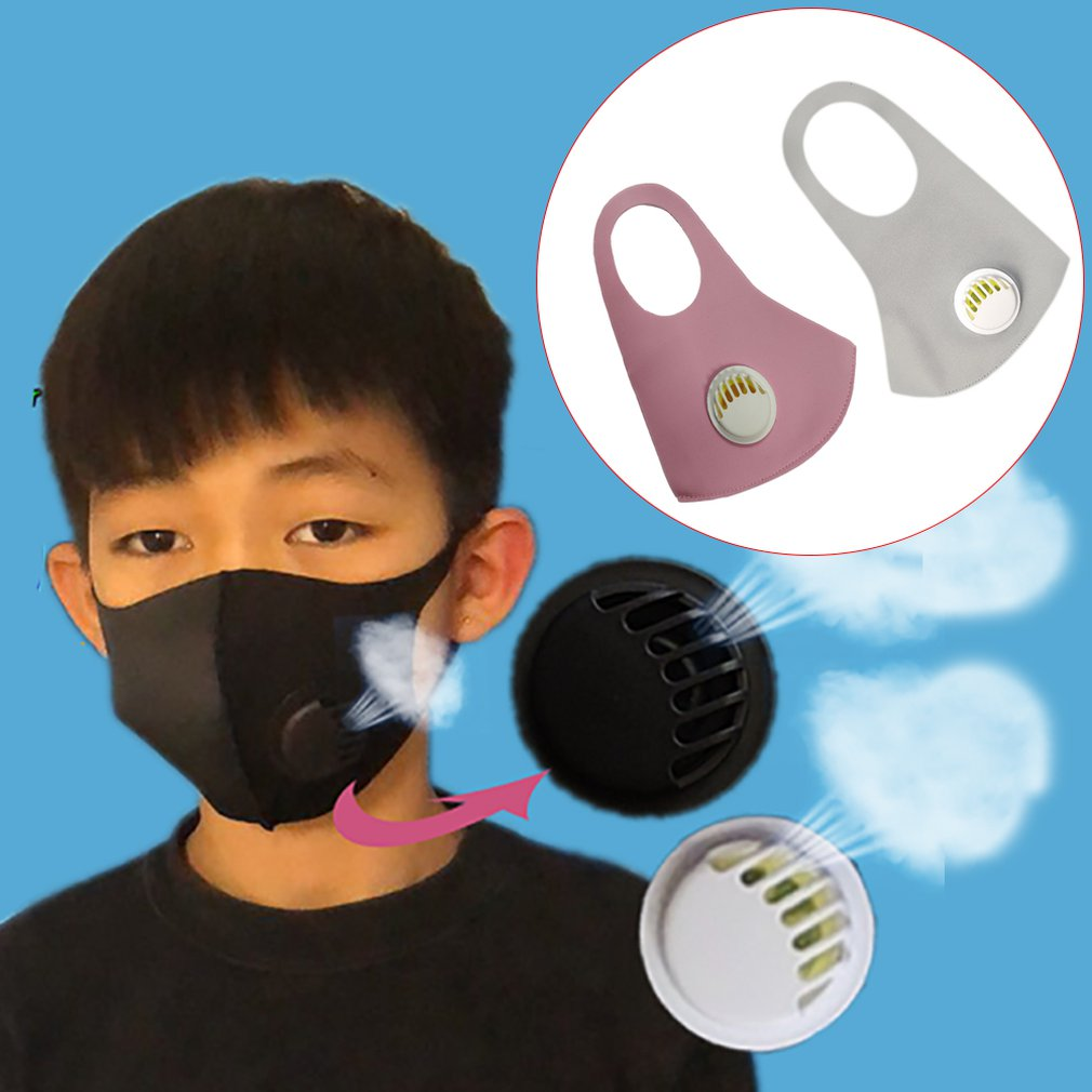Children'S Masks Anti-Dust Protective Mask Anti-Odor Anti-Spit Mask Anti-Fog Washable Mask With Breathing Valve