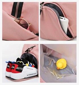 Image 2 - נשים חדר כושר תיק ספורט כושר תיק אימון שקיות עבור נעלי נסיעות יבש ורטוב יוגה מחצלת מבוי ספורט המוצ ילה sporttas