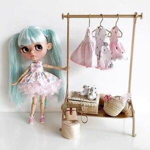 Золотая вешалка для детей, семейная кукла, кукольная мебель для комнаты, аксессуары, bjd вешалка для гардероба, детские подарки