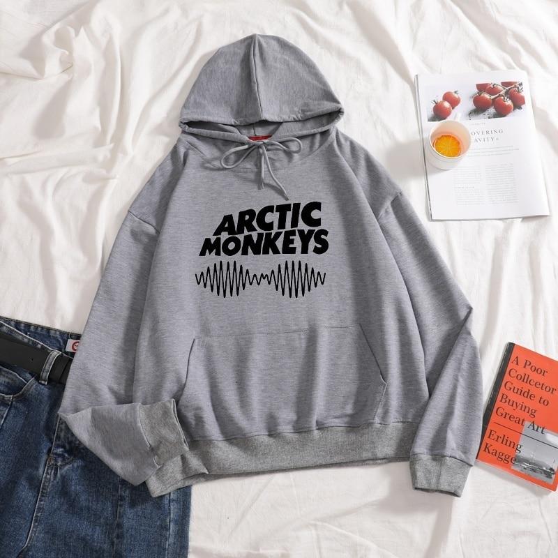 Новинка 2020 Arctic Monkeys Sound толстовки чистый цвет с длинным рукавом толстовки с капюшоном с буквенным принтом Женский Осенний Свитшот унисекс