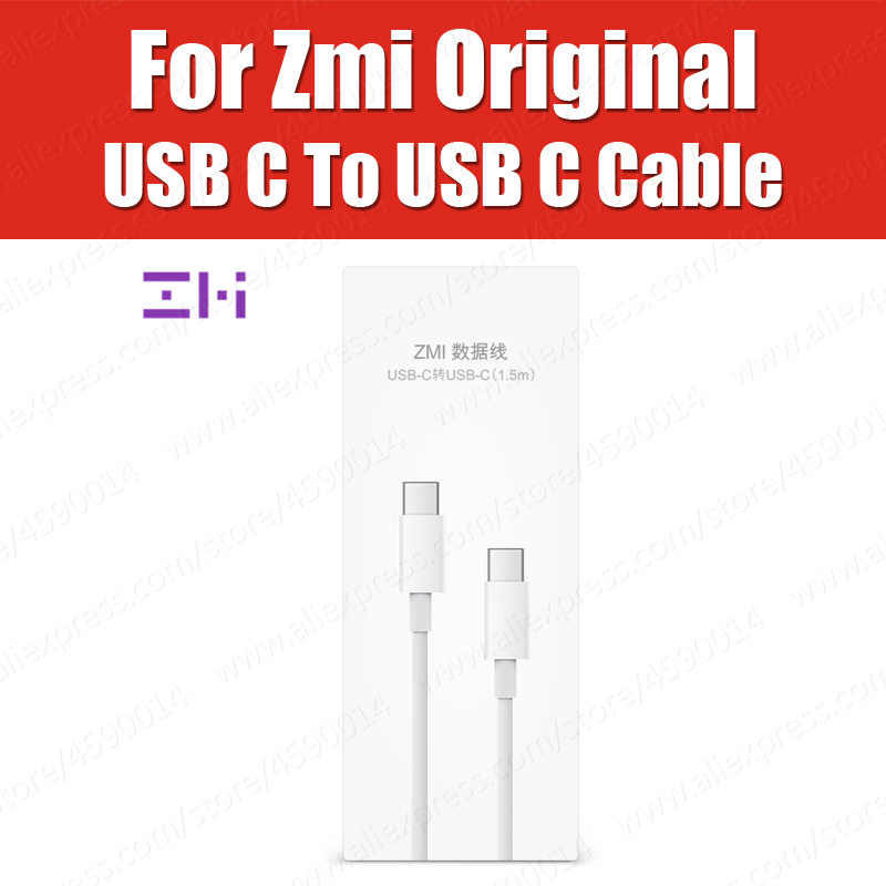 AL301 3A 1.5M Original Xiaomi ZMi USB Type C to USB C Quick charger Cable For Macbook Pro Xiaomi Mi9T K20 Pro Redmi Note 8 7 Pro