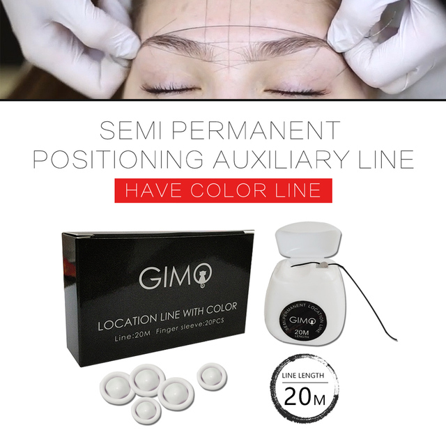 Mapping pre-ink string for Microblading eyebow Make Up Dyeing Liner Thread Semi Permanent Positioning Eyebrow Measuring Tool 20m