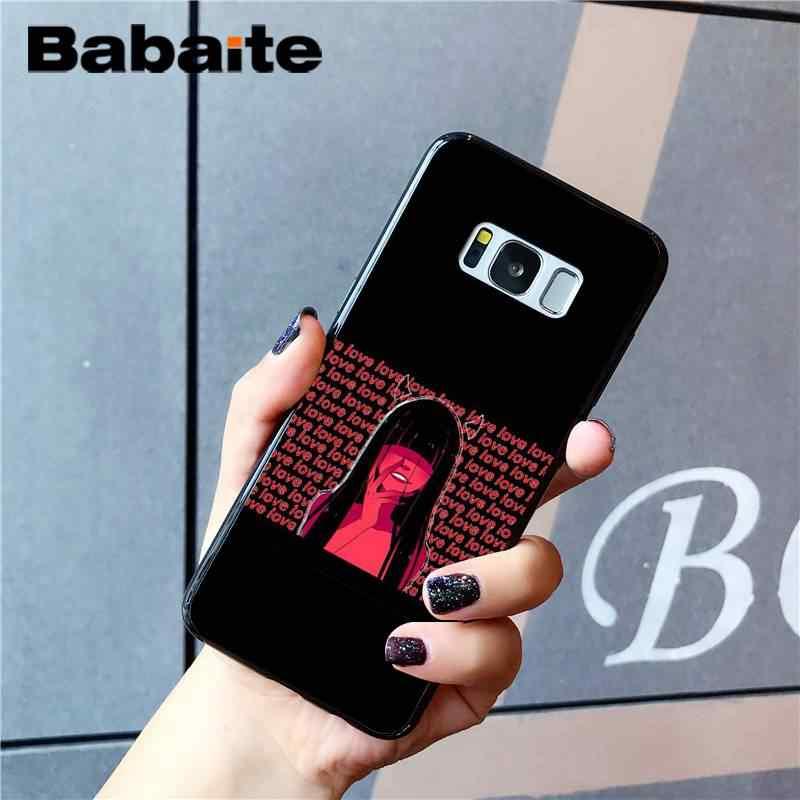 Babaite эстетический аниме мультфильм девушка ТПУ черный чехол для телефона оболочка для samsung GALAXY S9 plus S3 S6 7 8 9 S10 E S9 Чехол для мобильного телефона