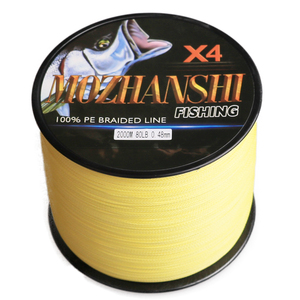 Image 2 - MOZHANSHI 4 גדילים 2000M ארוך ליהוק PE Multifilament קלועה דיג קו חוט 6 100LB