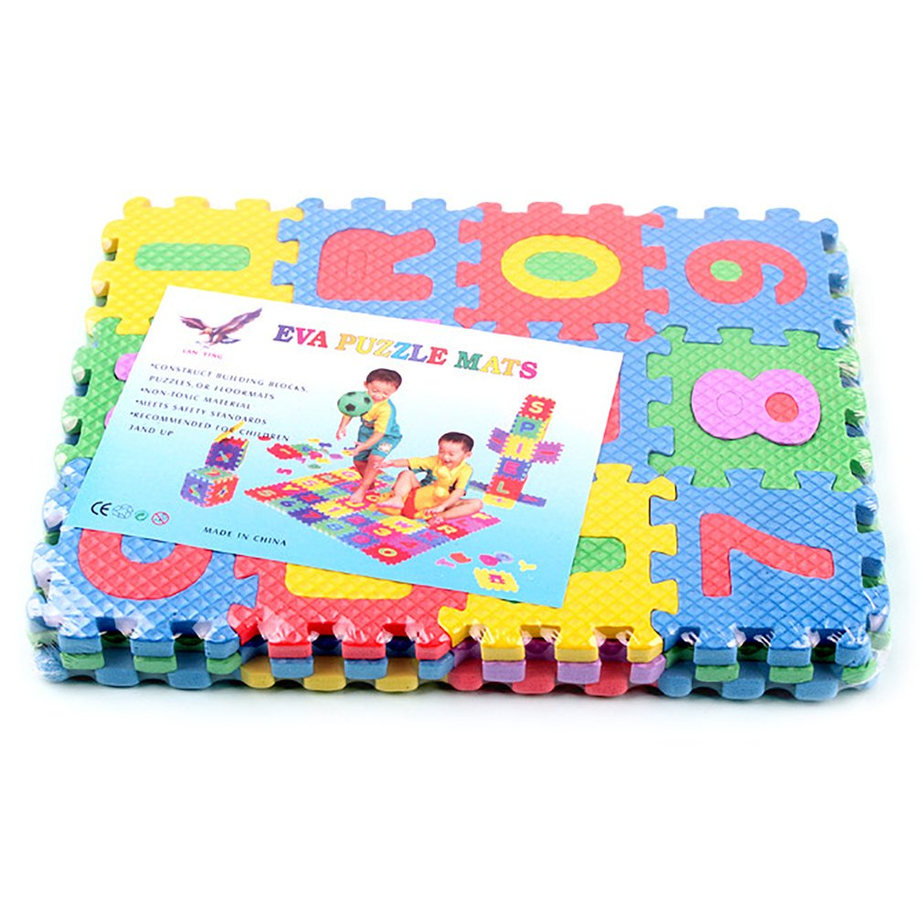 1pcs Children Alphabet Letters Numerals Puzzle Colourful Kids Rug Play Mat Soft Floor Crawling Puzzle Kids Educational Toys