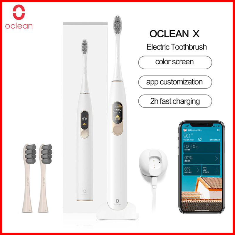 Oclean X Smart Sonic Electric Toothbrush Touch Screen Adult Waterproof USB Rechargeable Ultrasonic Toothbrush APP Control