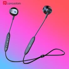 лучшая цена Langsdom Headphone Wireless Bluetooth Earphone for Xiaomi Bass Wireless Headphones with Mic Half In-ear Headset Earbud for Phone