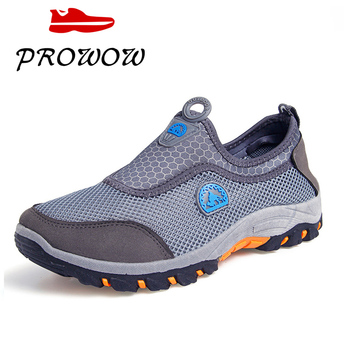 Zapatillas de deporte de verano para hombre, zapatos informales para exteriores de malla para hombre, zapatos transpirables cómodos para hombre, mocasines, zapatillas para caminar, zapatillas grandes Sz 2020