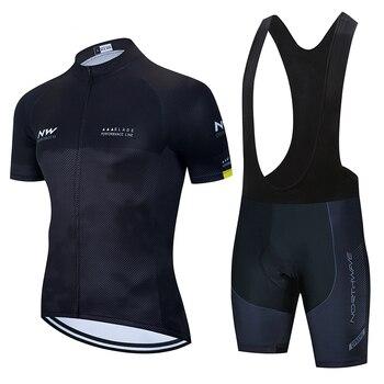2020 NW Short Sleeve Cycling Jersey Summer Bike Penetrating Uniform Cycling Jersey Cycling Men