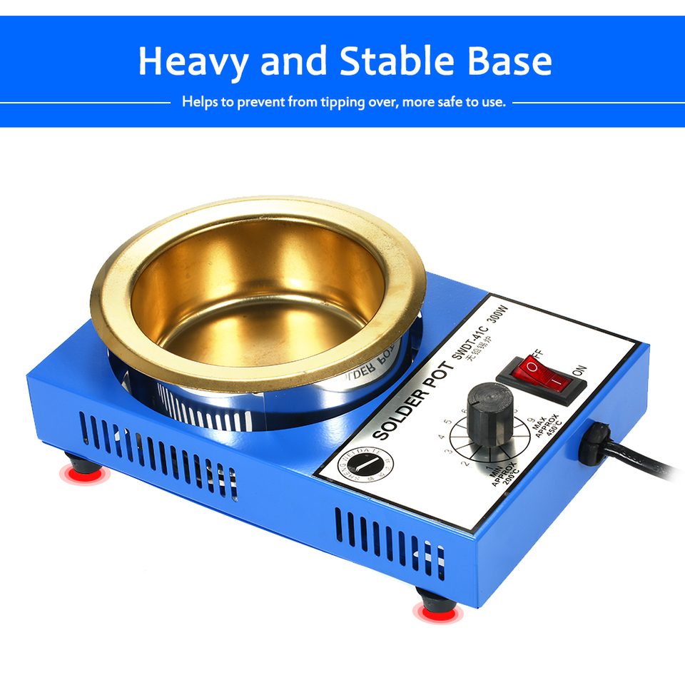 Solder Soldering Pot Desoldering Bath Temperature Adjustable Molten Tin Furnace