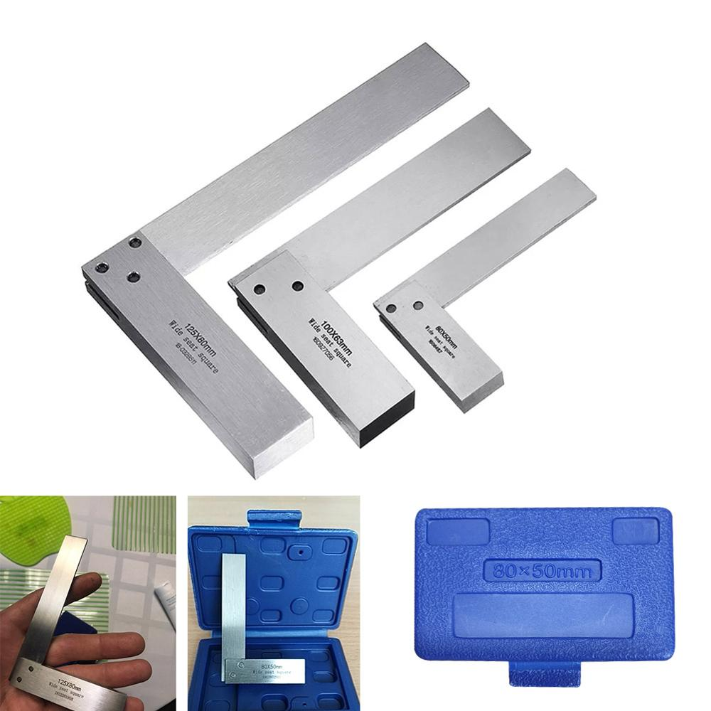 Machinist Square 90 Right Angle Ruler Protractor Carpenter Hardening of Precision Steel Engineers DIY Auxiliary measurement Tool(China)