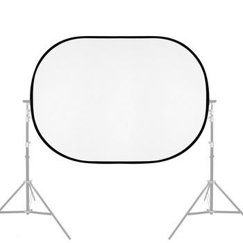 150X200CM składany owalny reflektor miękka tablica świetlna fotografia fotografia wideo dyfuzor Photo Studio miękki Panel z przenośna torba tanie i dobre opinie SITOO Owalne