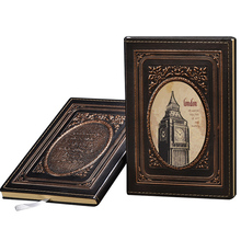 European Retro A5 Notebook Journal 100 Sheets Of 80g/m2 Paper 3D Three-dimensional Relief Big Ben Pattern Cover Life Planner